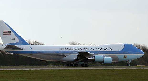 Air Force One is instantly recognisable (Chris Radburn/PA)