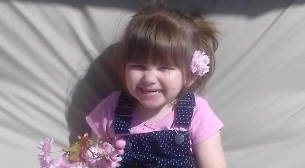 Three-year-old Ava-May Littleboy died after she was thrown from a seaside inflatable trampoline in an incident at Gorleston-on-Sea on July 1 2018 (Family handout/ PA).