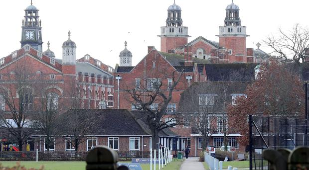 File photo dated 15/12/17 of Christ's Hospital School in Horsham, West Sussex, where former teachers Gary Dobbie, James Husband, Peter Webb, Peter Burr and Ajaz Karim have been found guilty of sexually abusing pupils over a period of 13 years.