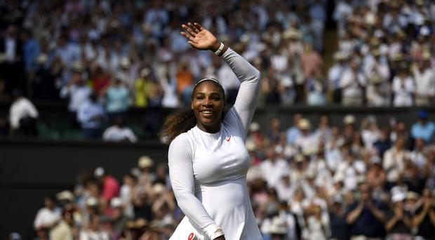 Serena Williams celebrates her win against Julia Goerges (Neil Hall/PA)