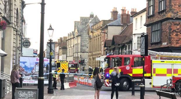 Photo issued by George Walkley of emergency services activity in Salisbury (George Walkley/PA)
