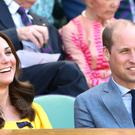 The Duke and Duchess of Cambridge watched the tennis from the royal box (John Walton/PA)