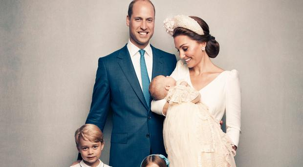 The photographs taken by Matt Holyoak in the Morning Room at Clarence House, following Prince Louis' baptism
