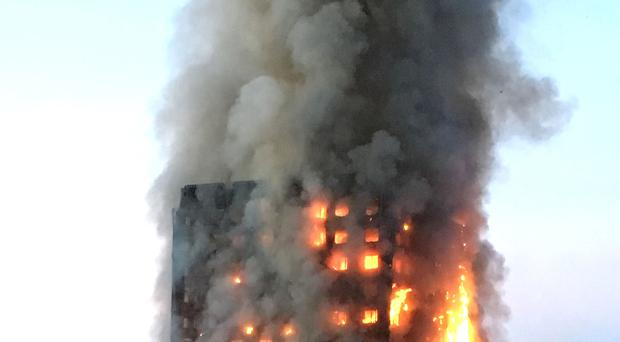 Grenfell Tower on fire (Natalie Oxford/PA)