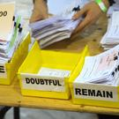 Votes are sorted into Remain, Leave and Doubtful trays (PA)