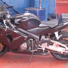 Richard Allen's Honda bike in a garage (West Midlands Police/PA)