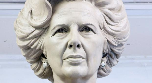 Sculptor Douglas Jennings' statue of Margaret Thatcher, before it was rejected by Westminster City Council (Douglas Jennings)