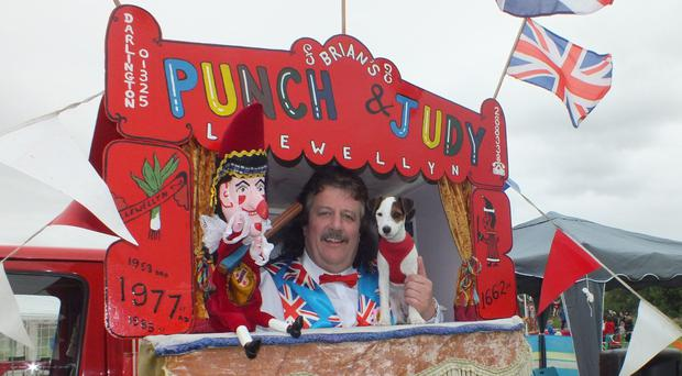 Brian Llewellyn denies Punch and Judy shows glorify domestic violence. (Marian Llewellyn/PA)