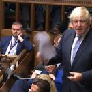 Boris Johnson giving a statement to the House of Commons (PA)