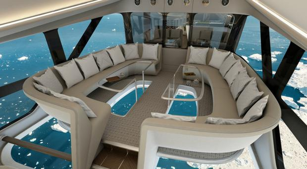 "Passengers will be able to enjoy ""horizon-to-horizon"" views on Airlander 10 (Hybrid Air Vehicles/PA)"