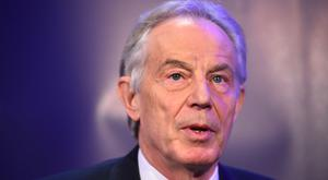 Tony Blair said that taking disciplinary action against Dame Margaret Hodge for confronting Jeremy Corbyn would be crazy (Kirsty O'Connor/PA)