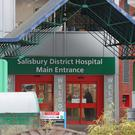 The main entrance to Salisbury District Hospital (Steve Parsons/PA)