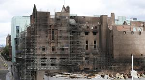 The fire damaged Glasgow School of Art (Andrew Milligan/PA)