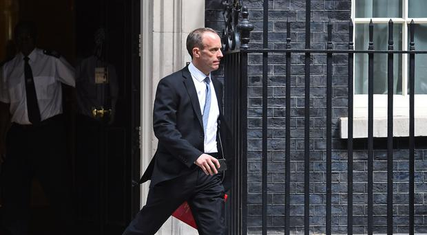 Brexit Secretary Dominic Raab has indicated the UK could refuse to pay its £39 billion divorce bill to Brussels if it does not get a trade deal (Kirsty O'Connor/PA)