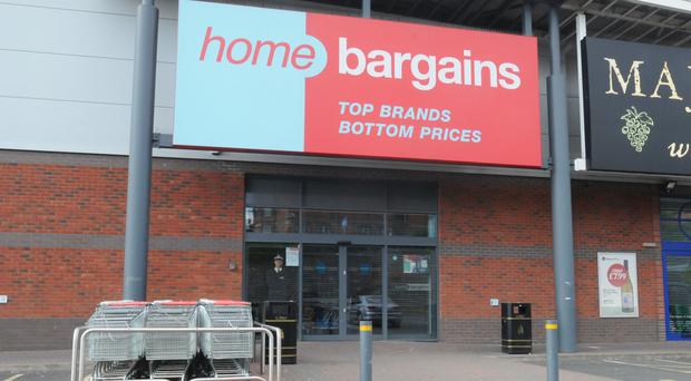 The Home Bargains store on the Shrub Hill Retail Park in Tallow Hill (Matthew Cooper/PA)