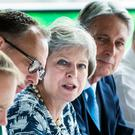 Prime Minister Theresa May speaks during a Cabinet meeting at Sage Gateshead, Tyne and Wear (PA)