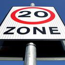 A 20mph speed limit sign (Dominic Lipinski/PA)