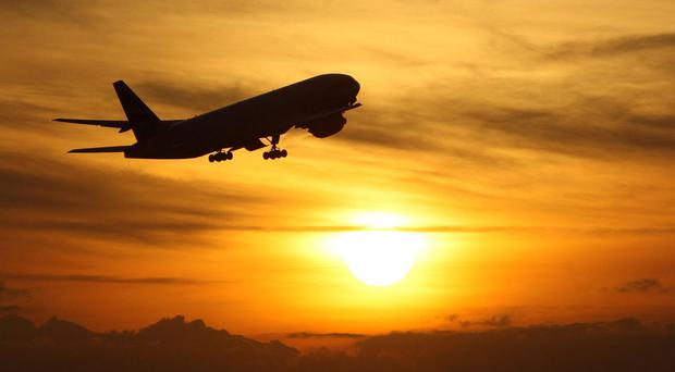 File photo dated 19/11/08 of a plane taking off at sunset. Turkey is the best-value foreign holiday destination in Europe for UK families, according to new research.