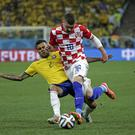 Ante Rebic in action against Brazil at the World Cup.