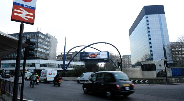 The collision happened on Old Street roundabout (Jonathan Brady/PA)