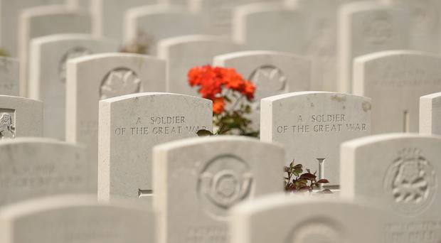 Graves at the Tyne Cot Commonwealth War Graves Cemetery in Ypres, Belgium (Joe Giddens/PA)