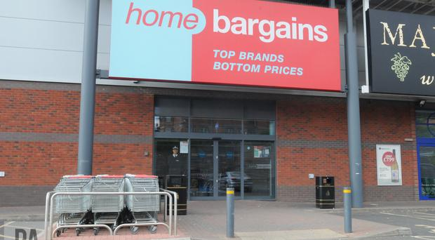 The Home Bargains store where a three-year-old boy was injured (Matthew Cooper/PA)