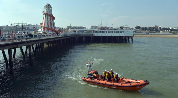Search teams near Clacton Pier (Nick Ansell/PA)