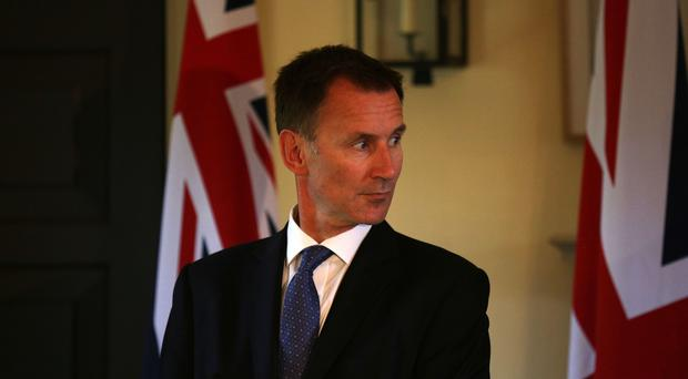 Foreign Secretary Jeremy Hunt (David Cheskin/PA)