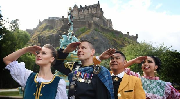 Performers from around the world are preparing for the Royal Edinburgh Military Tattoo (Royal Edinburgh Military Tattoo/PA)