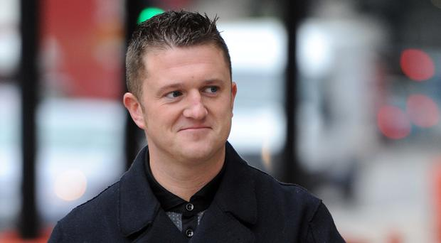 Tommy Robinson has been released on bail (Anthony Devlin/PA)
