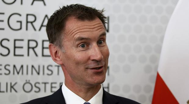 Jeremy Hunt held talks with Austria's leader (Ronald Zak/AP)