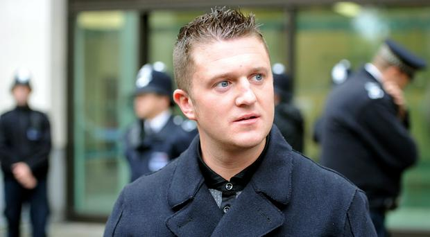 Tommy Robinson has been freed on bail (Anthony Devlin/PA)