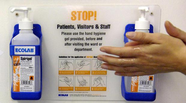 Disinfectant hand cleansers are becoming increasingly ineffective against a hospital superbug, research has shown. (Tim Ireland/PA)