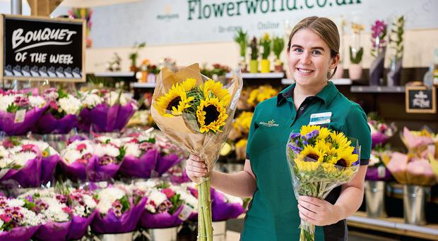Morrisons is selling wonky flowers for the first time after the current hot weather and dry conditions stopped some from developing properly (Morrisons/PA)