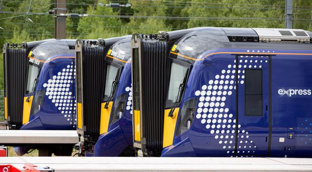 The new trains are running on the Glasgow-Edinburgh route (Ross Brownlee/ScotRail/PA)