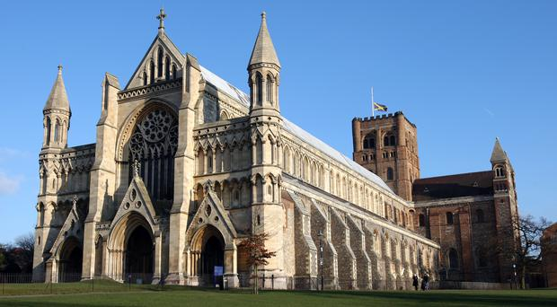 St Albans is one of the cathedrals which have switched to 100% green electricity (Chris Radburn/PA)