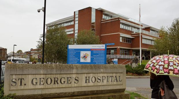 St George's Hospital in Tooting, south west London (PA)