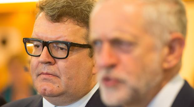 Tom Watson and Jeremy Corbyn (Dominic Lipinski/PA)