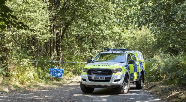 A police roadblock near Caverswall following the discovery of a body during the search for missing midwife Samantha Eastwood (Danny Lawson/PA)