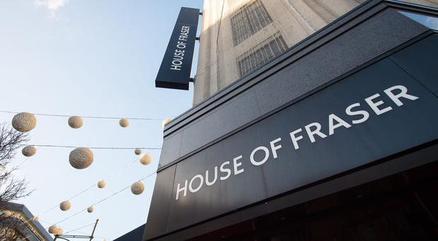 The Oxford Street branch of House of Fraser (Dominic Lipinski/PA)