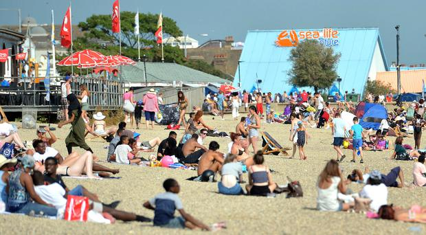 People on the beach in Southend, Essex (Nick Ansell/PA)