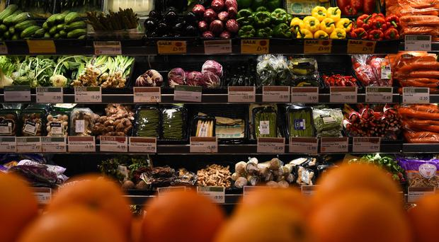 Fruit and vegetables on sale at a Whole Foods Market shop in London (Kirsty O'Connor/PA)