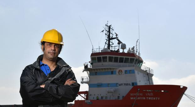 Captain Nikesh Rastogi is preparing to return home after 18 months stranded on a ship in port at Great Yarmouth (Joe Giddens/PA)
