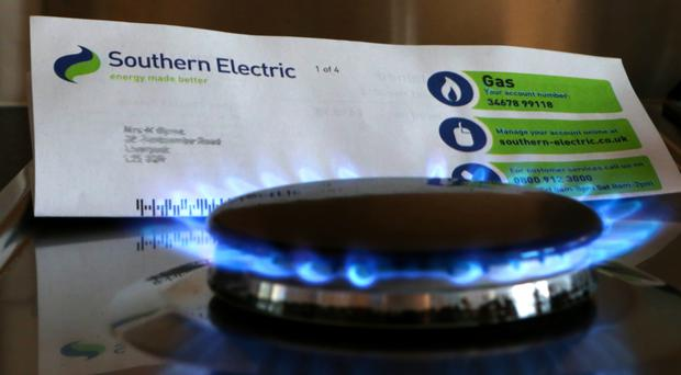 An SSE bill and a gas burner (Peter Byrne/PA)