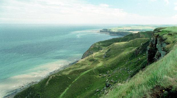 The girl died in a rock fall near Staithes (PA)