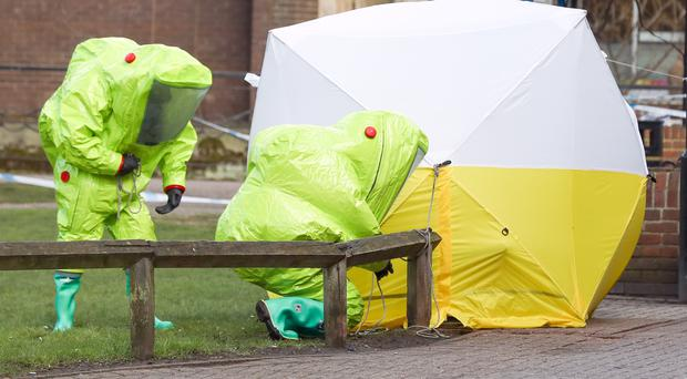 Police investigating the poisoning of Russian spy Sergei Skripal and his daughter Yulia (Andrew Matthews/PA)