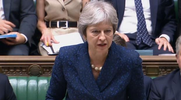 Mrs May said talks with the EU had reached an 'impasse' (PA)