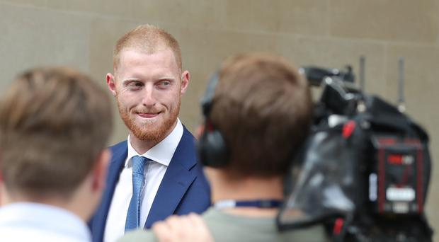England cricketer Ben Stokes outside Bristol Crown Court (Andrew Matthews/PA)