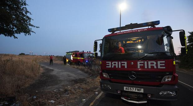 A fire engine at a callout (PA)