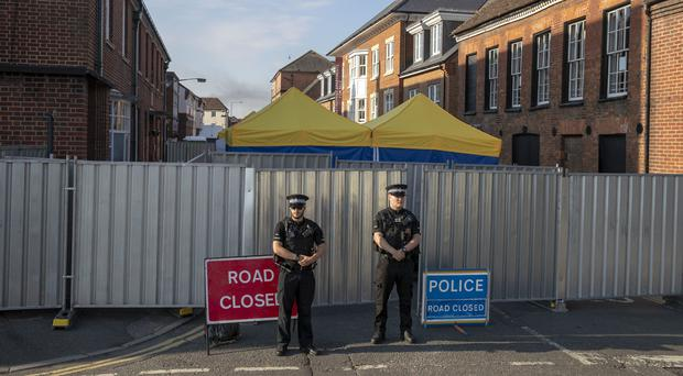 Police at one of the scenes in Salisbury (Steve Parsons/PA)